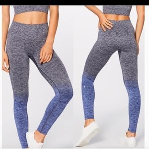 LULULEMON HIGH WAISTED OMBRÉ LEGGINGS